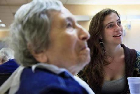 Ryan Christ regularly visits Sofia Itkis on Sundays in the nursing home. He says the 85-year-old woman is his mentor.